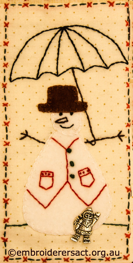 Detail from Christmas Fun Wallhanging