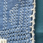 Four sided stitch openwork