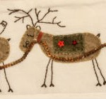 Detail of sleigh & reindeer applique