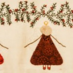 Detail of Xmas Angels applique
