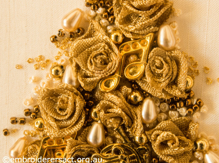 Detail of Gold Christmas Tree