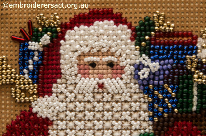 Detail of Beaded Santa Claus