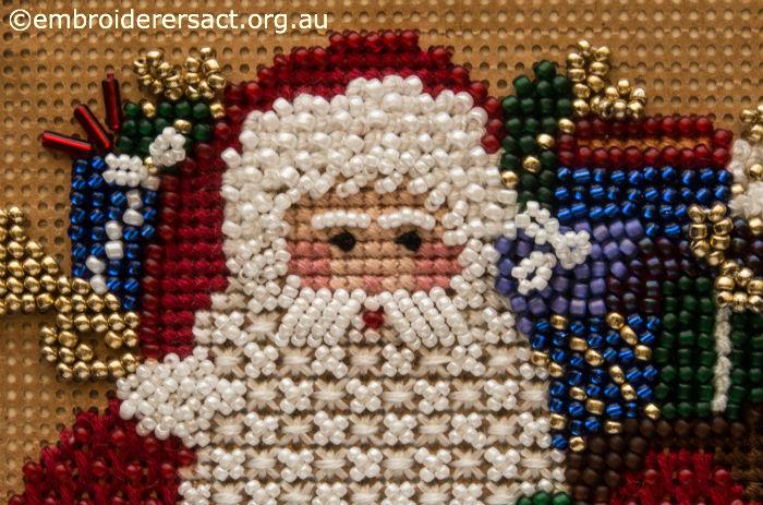 Detail of Beaded Santa Claus