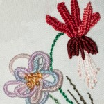 Detail of Brazilian Embroidery Flowers