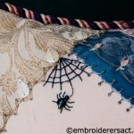 Detail of Crazy Patchwork Cushion