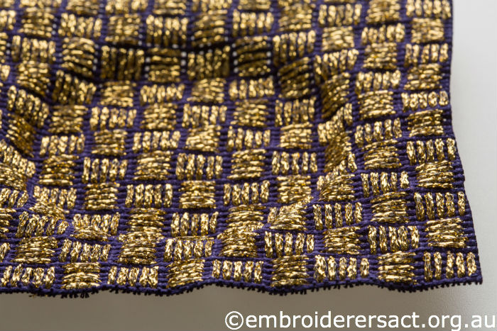 Goldwork bowl detail