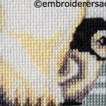 Detail of Penguin Chick in X-stitch