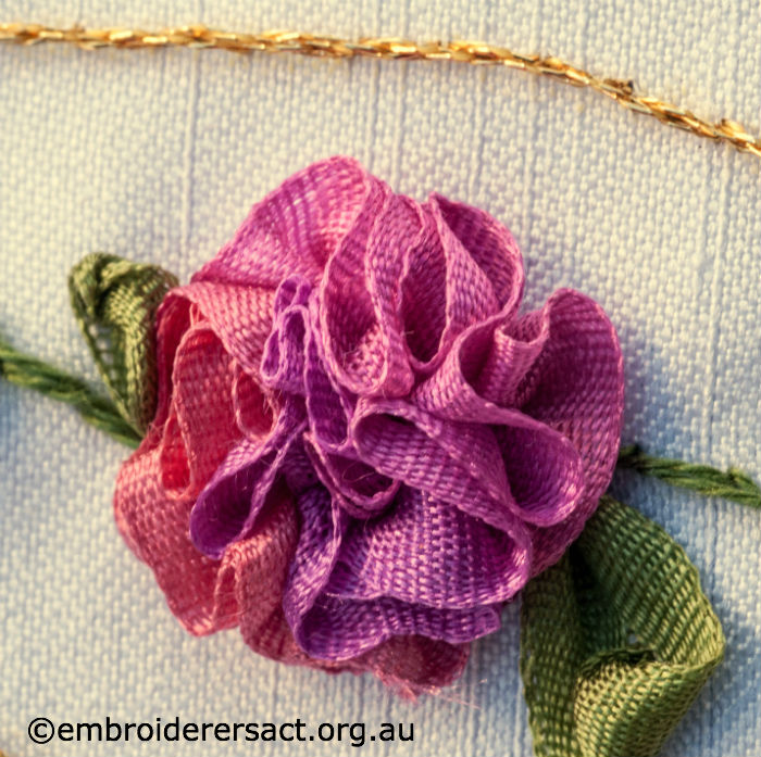 Ribbon embroidery flowers