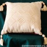 Drawn Threadwork Cushion