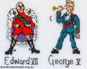 Ed VII and George VI Barbara Bailey X stitch