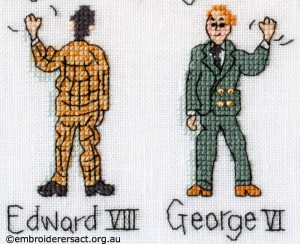 EdVIII and George VI Barbara Bailey X stitch