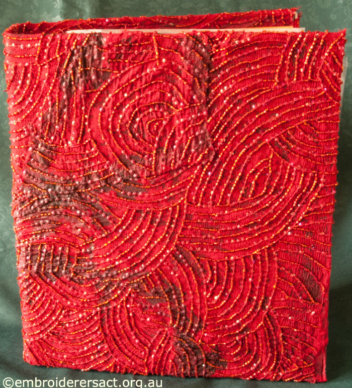 Embossed Red Folder