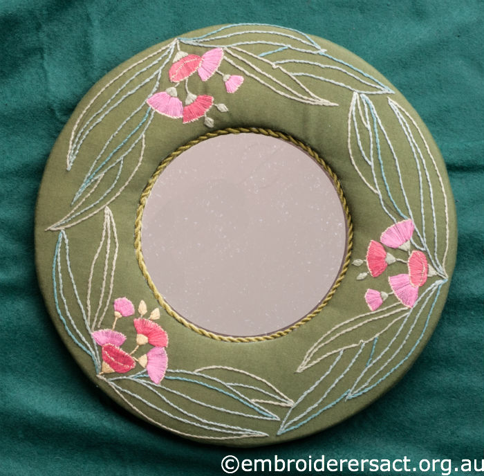 Embroidered Mirror