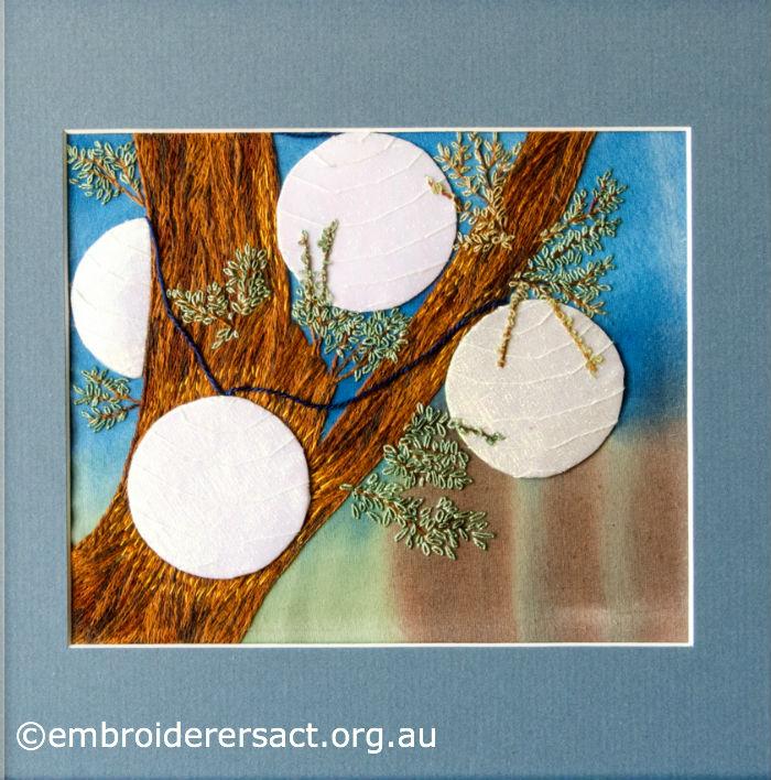 Floriade White Lanterns stitched