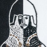 Head of Sir Thomas Burton - embroidery