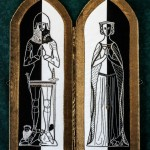 Embroidered Diptych of Sir Thomas & Lady Burton