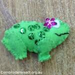 Frog Feltie