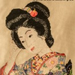 Cross Stitch of Japanese Geisha