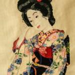 Cross Stitch of Japanese Geisha