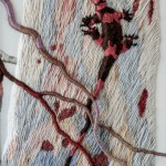 Lizard on Tree Contemporary embroidery