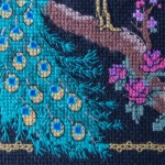 Detail 2 of Peacock X-stitch