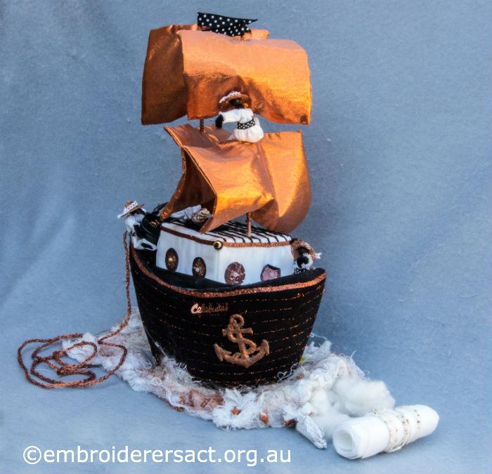 textile model ship