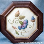 Octagonal Box Lid with Needlelace & Goldwork