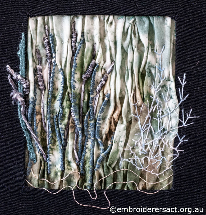 Pond life embroidery