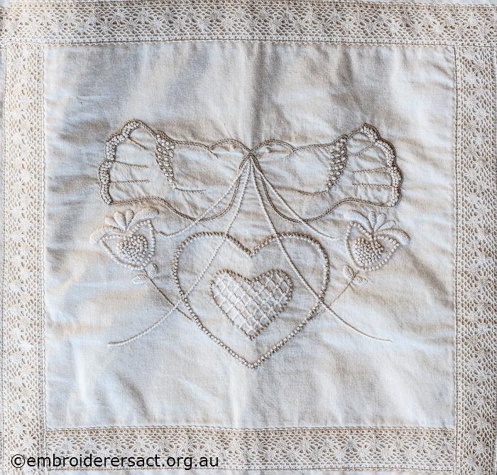 Quilt detail 5 by Glenda Hudson