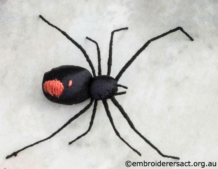 Stumpwork Red Back Spider