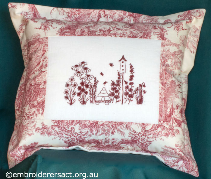 Redwork Cushion