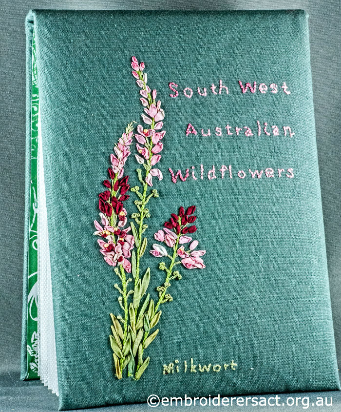 Stitched wildflower