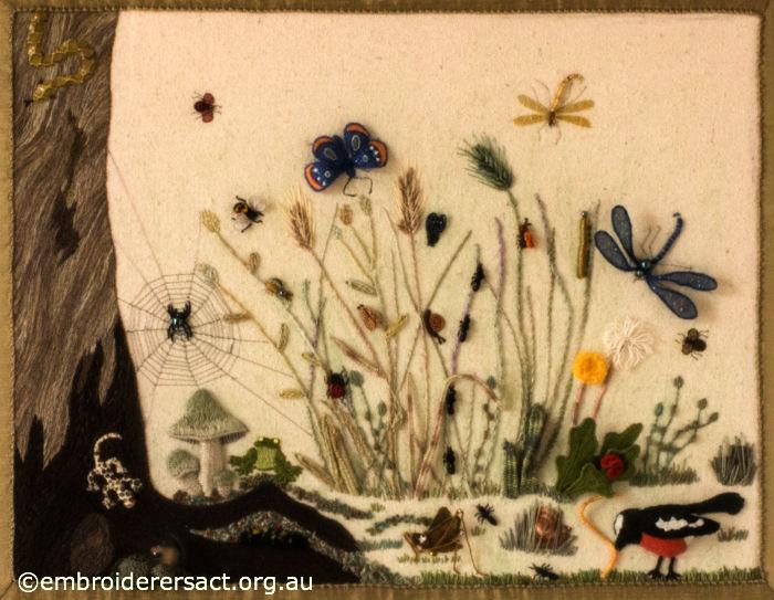 Stumpwork embroidery