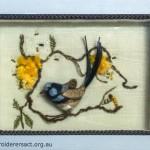 Stumpwork Blue Wren