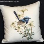 Superb Blue Wren Pillow