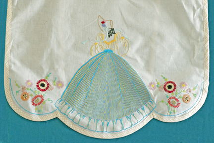 Detail of Girl on Vintage Semco Apron