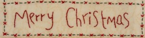Detail 8 from Christmas Fun Wallhanging by Anne Dowling