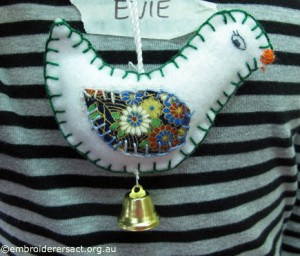 Evie Young Stitchers Xmas Bird Ornament