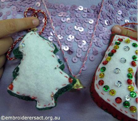 Stitched Xmas Ornaments