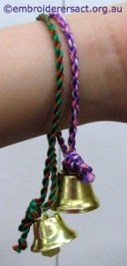 Kimberley Young Stitchers Xmas Bell bracelets