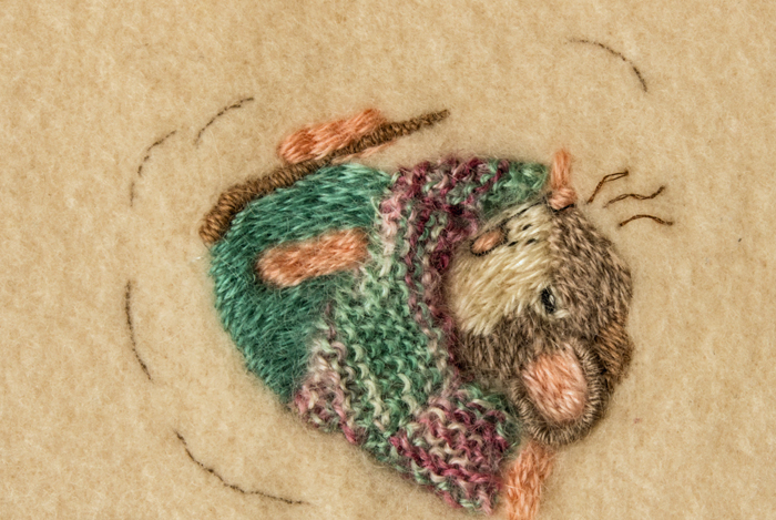 Cute Mice on Wool Blanket 2