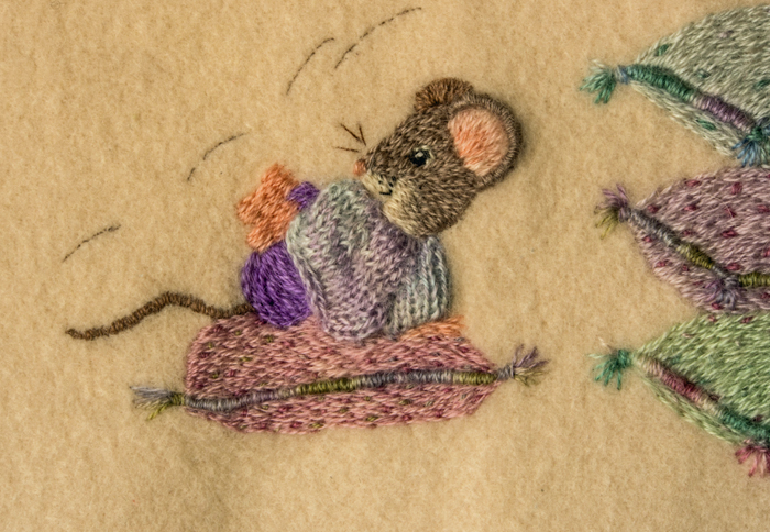 Cute Mice on Wool Blanket 4
