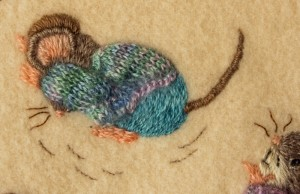 Mice on Blanket 4 by Lesley Fusinato