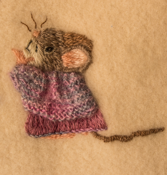 Cute Mice on Wool Blanket 6