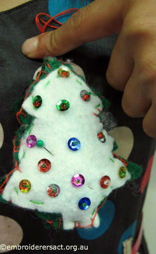 Stitched Xmas Tree Ornament