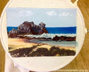 Agnes Sciberras - Contemporary Seascape in Hoop