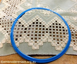 Anne Lond - Green Hardanger Runner Edges in Hoop