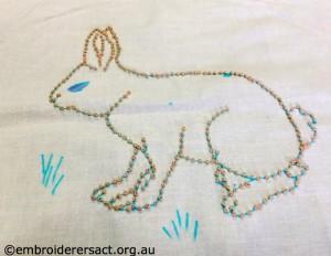 Barbara Adams - Candlewick Rabbit in Progress