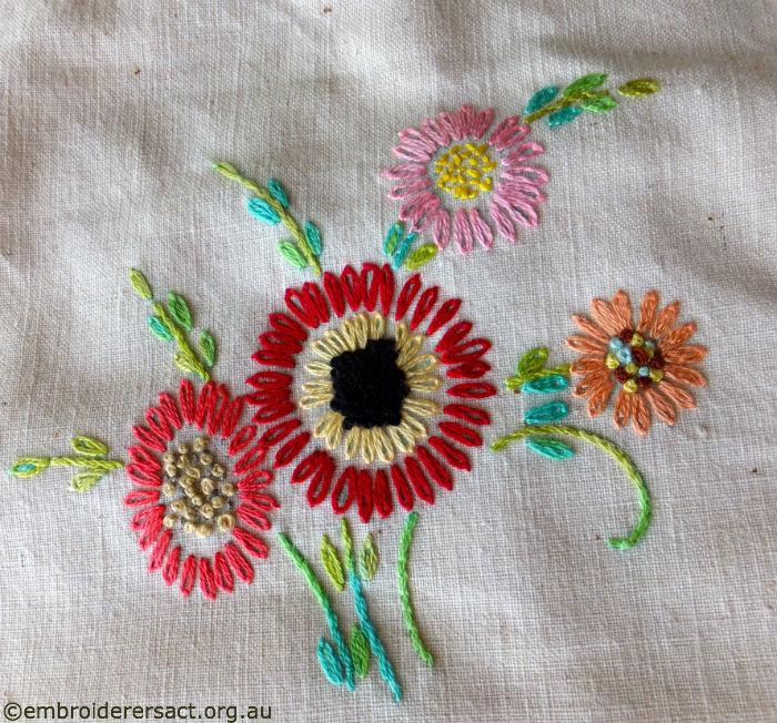 Flowers Detail in Vintage Semco Apron