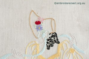 Head of Girl in Vintage Semco Apron stitched by Carmen Zanetti
